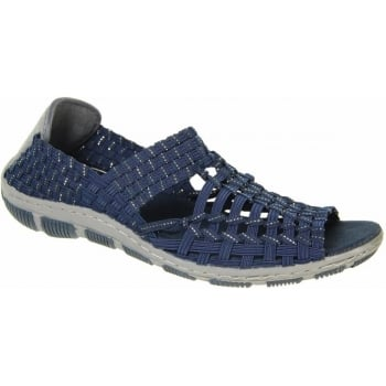 Adesso Gracie Navy / Silver (N55) A3726 Womens Shoes