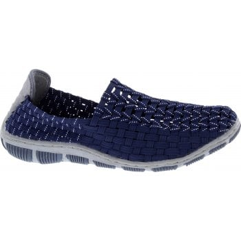 Adesso Layla Navy / Silver (N82) A5335 Womens Trainers