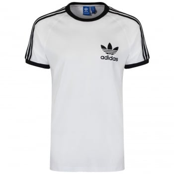 Adidas 3 Stripes Retro Trefoil Tee White (SC6) S18420 Mens Short Sleeve T-Shirts