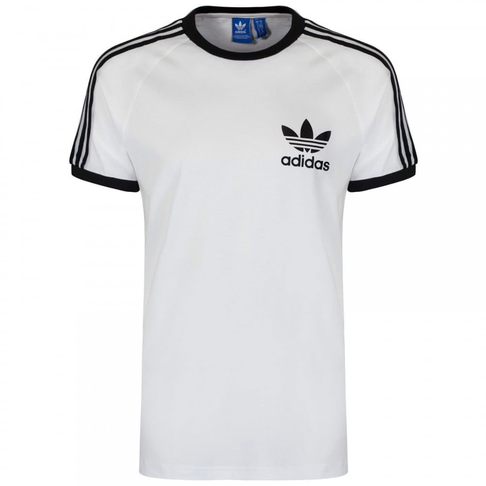 adidas trefoil 3 stripes t shirt in navy