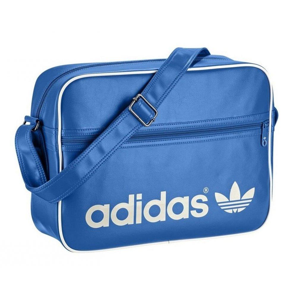 16f0e3839be8 Adidas Adidas AC Airiner Blue   White (B35) Mens Messenger Shoulder ...
