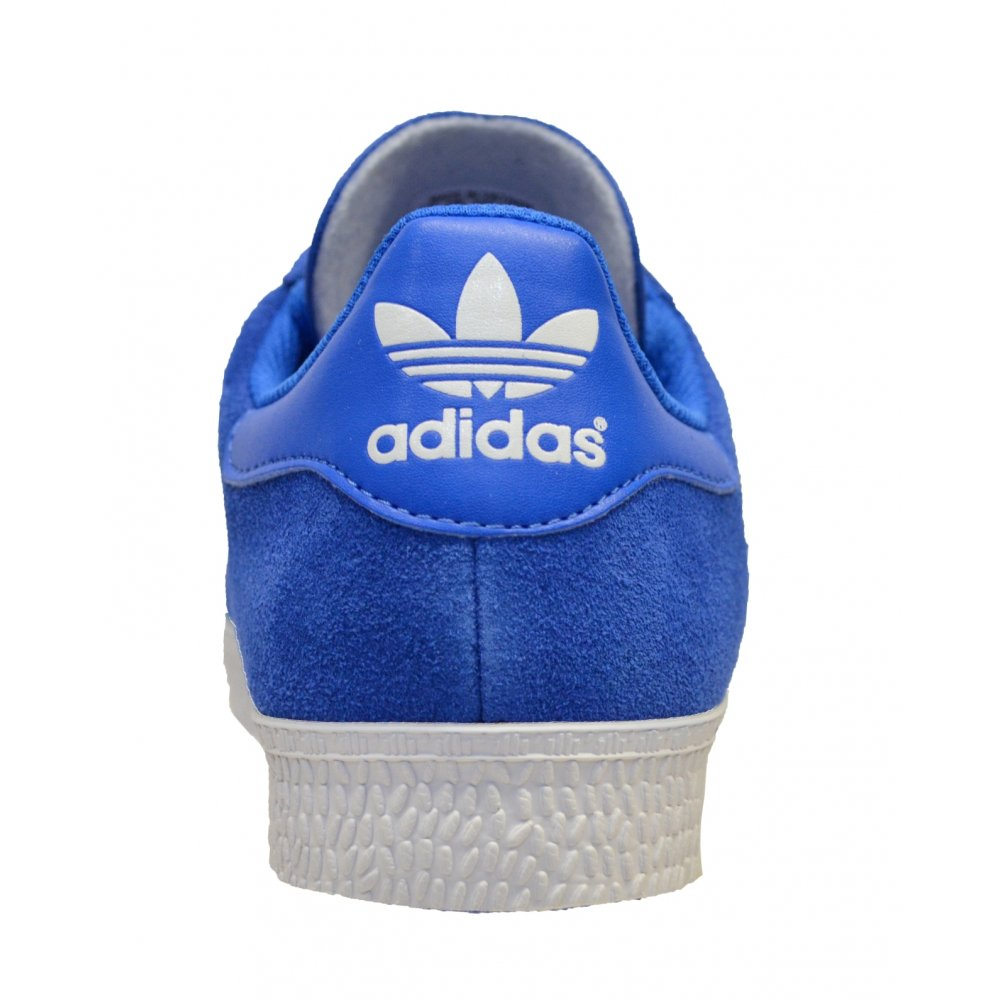Adidas Gazelle 2 White Blue Suede Mens Trainers