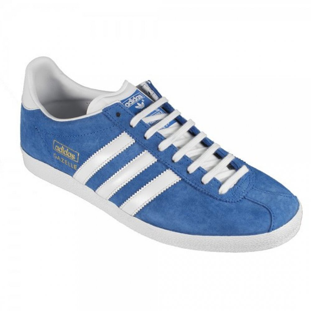 New Mens Adidas Gazelle Og Blue Suede Trainers