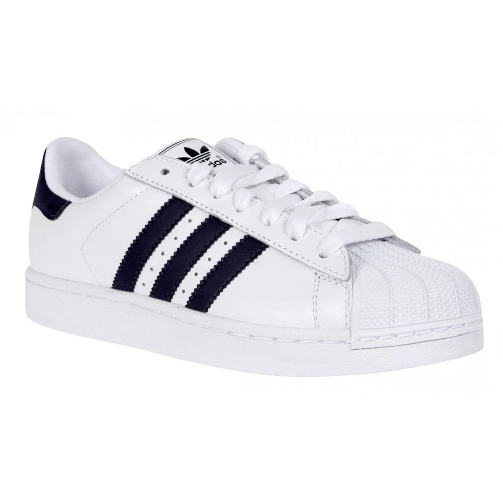 the latest 1d81d c7086 Adidas Superstar 2 White   Navy (GD2) G17070 Mens Trainers