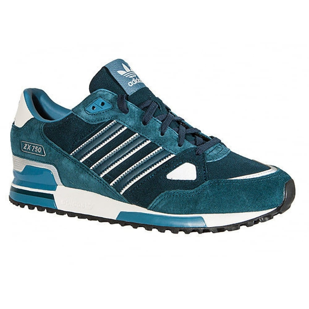 79a617dff369c Adidas Adidas ZX 750 Suede Petrol   White (P3) M18258 Mens Trainers ...