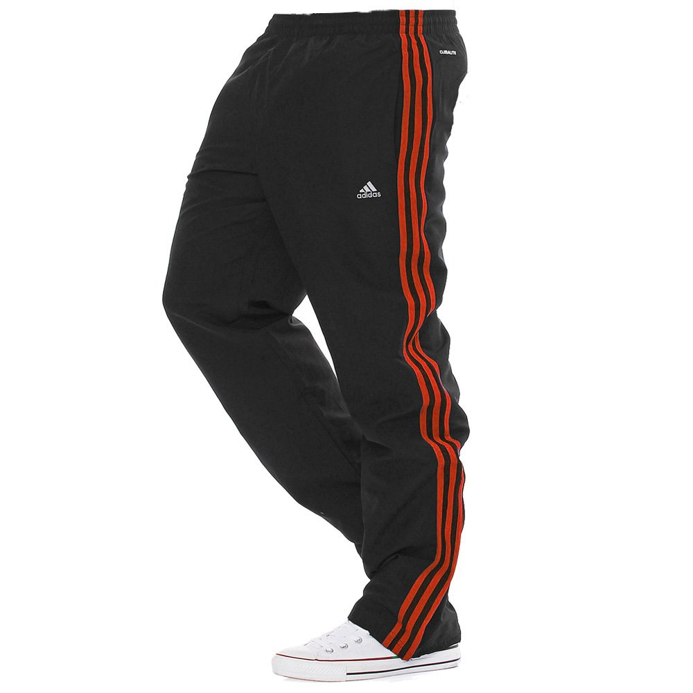e6a74d49c53c Adidas Essentials Climalite Black Red (P20) Mens Tracksuit Bottoms Joggers