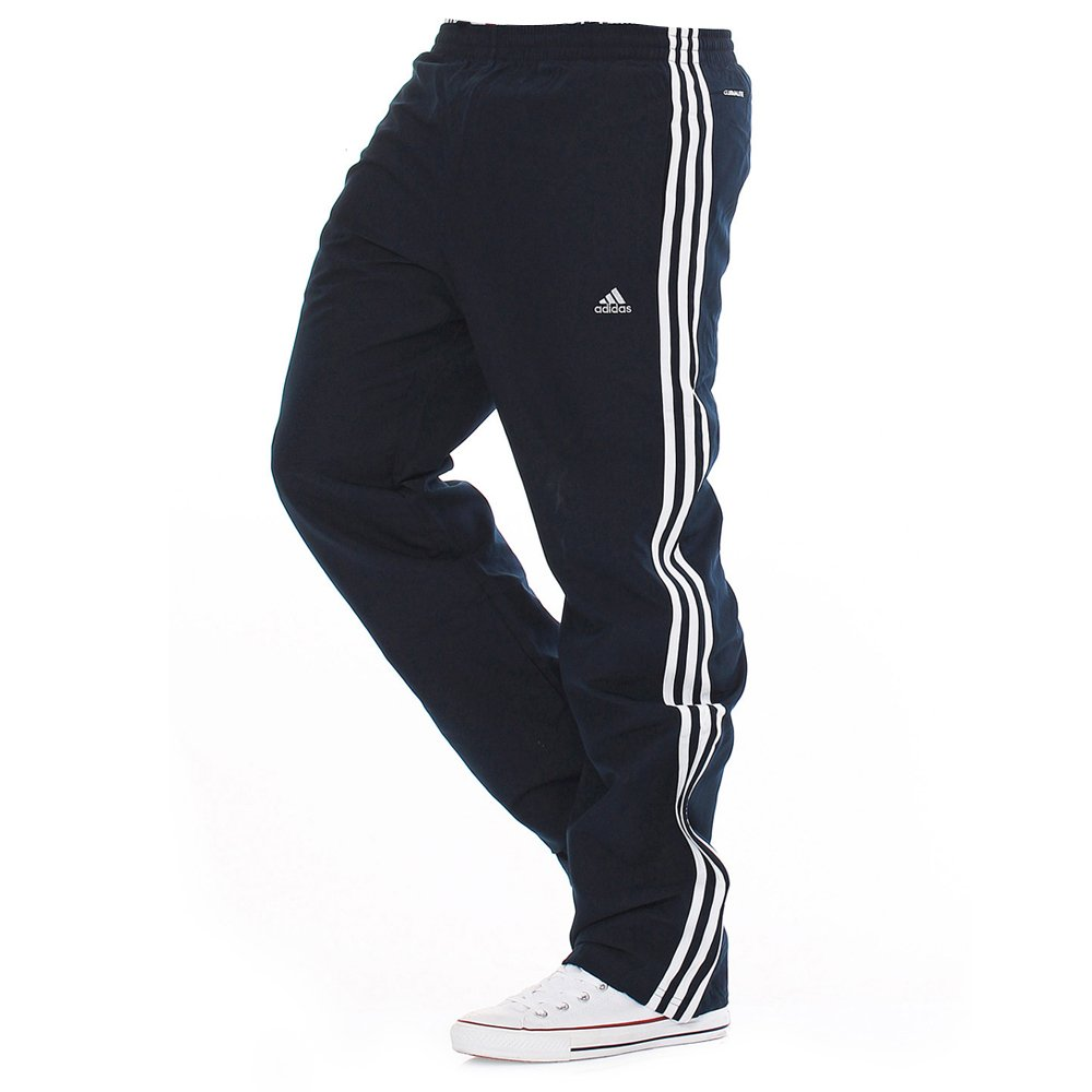 Adidas Essentials Climalite Dark Navy / White (T3b) Mens Tracksuit Bottoms  Joggers. ‹