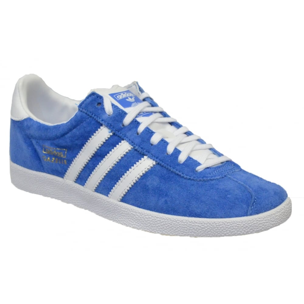 Adidas Gazelle OG Suede Blue / White (Z17) G16183 Mens Trainers. ‹