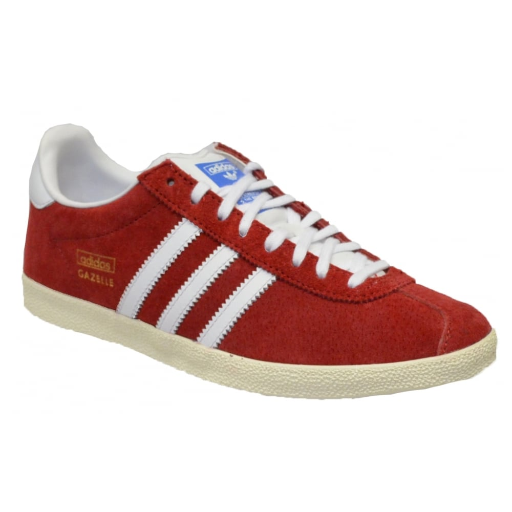 super popular 34361 e9d57 Adidas Gazelle OG Suede Red  White (C6) G04117 Mens Trainers