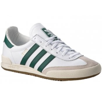 Adidas Jeans Leather Trainer White / Green / Grey (Z26) BB7440 Mens Trainers