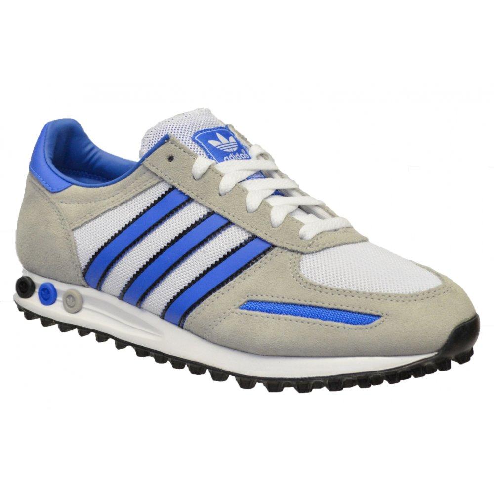 a1544e6dea7b Adidas Adidas LA Whte   Blue   Black (Z169) M18223 Mens Trainers ...