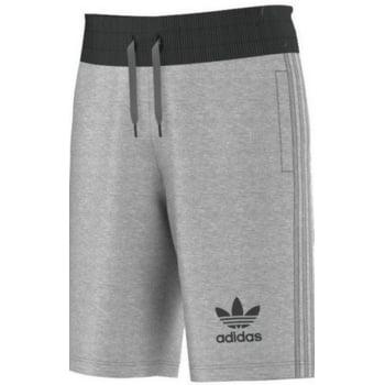 Adidas Original 3 Stripes Essential Marl Grey (Z111) S89961 Mens Shorts Casual Fleece Sports Shorts