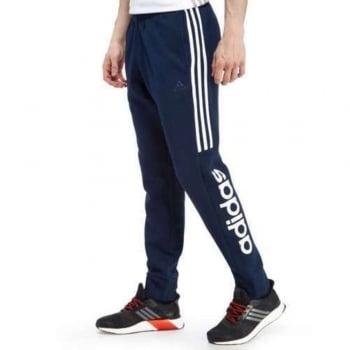 Adidas SMU Linear Fleece Slim Fit Skinny Fit Navy (B36) AP7354 Mens Pants Joggers