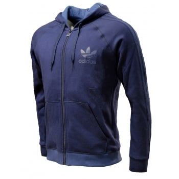 Adidas SPO Hooded Retro FZ Fleece Navy (Z2) AB7586 Mens Tracksuit Top