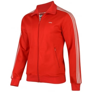 Adidas SPO Originals Beckenbauer Red (E4) AB7767 Mens Sport Zip Up Tracksuit Top