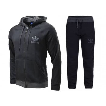 Adidas SPO Retro FZ Fleece Black (Z151) AB7588 Mens Tracksuits