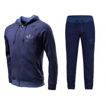 Adidas SPO Retro FZ Fleece Navy (Z2) AB7586 Mens Tracksuits