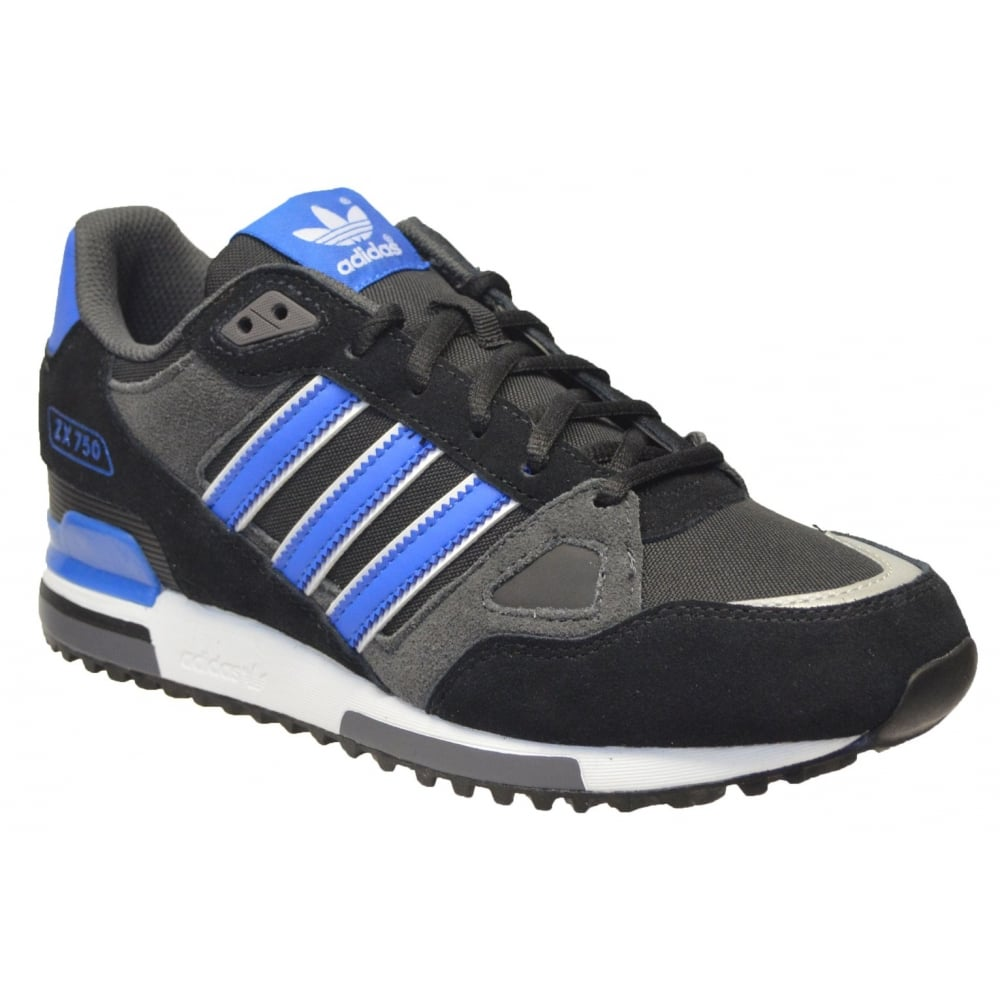 Adidas Adidas ZX 750 Suede Black Blue White (Z25) M18261