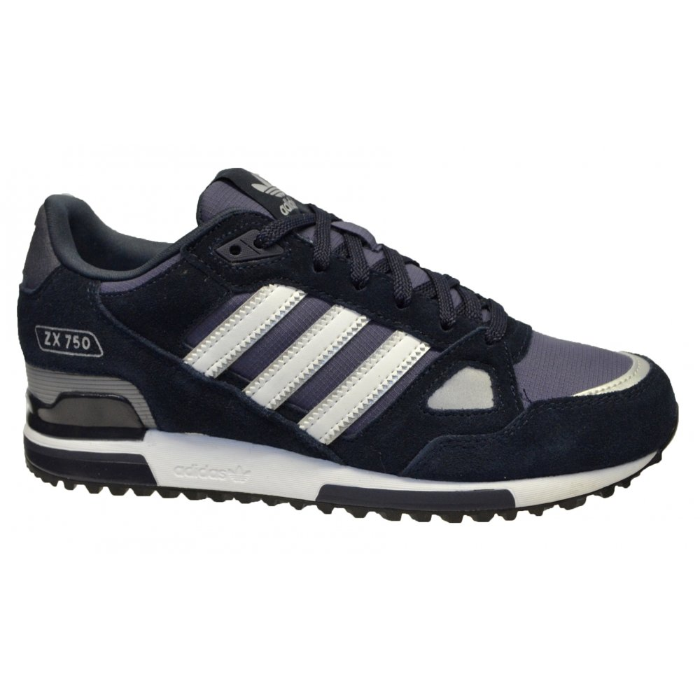 adidas adidas zx 750 suede navy white z102 g40159 mens. Black Bedroom Furniture Sets. Home Design Ideas