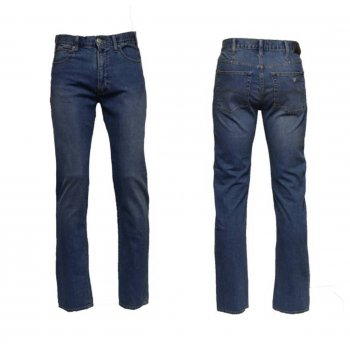 Armani Mens Washed Blue Denim 06J31-2Q Regular Fit Jeans