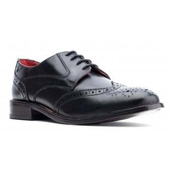 Base London Dominion Waxy Black (SC4) Lace up Brogue Mens Shoes