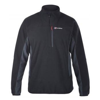 Berghaus Prism Micro II Half Zip Black / Dark Grey (Z15) 421708-C33 Mens Fleece Jackets