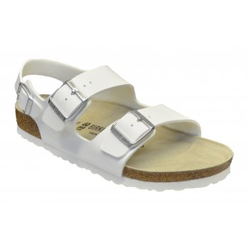 Birkenstock Milano (034731) Birko-Flor Nubuck White (E2) Mens Sandals