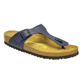 Birkenstock Gizeh (0143621) Birko-Flor Blue Nubuck (N74) Womens Sandal