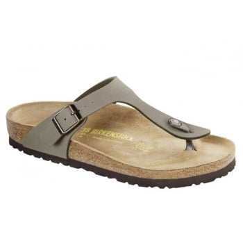 Birkenstock Gizeh (043391) Birko-Flor Nubuck Stone (N91) Womens Sandal