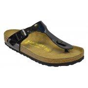 Birkenstock Gizeh (043661) Birko-Flor Patent Black (Z21) Womens Sandal