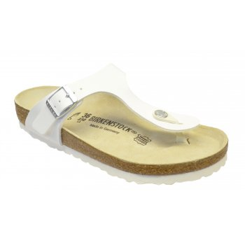Birkenstock Gizeh (043731) Birko-Flor White Nubuck (Z10) Womens Sandal