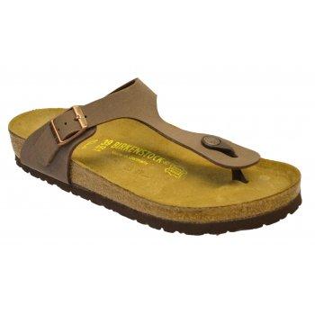Birkenstock Gizeh (043751) Birko-Flor Nubuck Mocca (K7) Womens Sandal