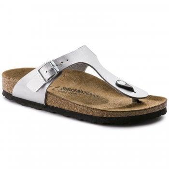 Birkenstock Gizeh (043851) Birko-Flor Silver (F3) Womens Sandal