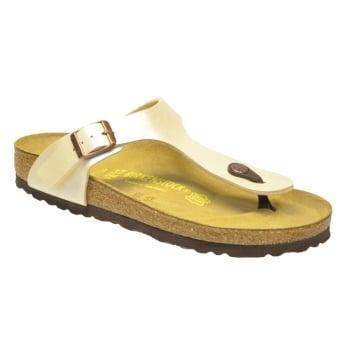 Birkenstock Birkenstock Gizeh (0943871) Birko-Flor Graceful Pearl White (F7) Womens Sandal