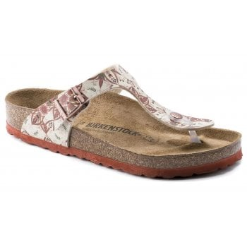 Birkenstock Gizeh (1015998) Boho Flowers Earth Red (SC-A1) Womens Sandal