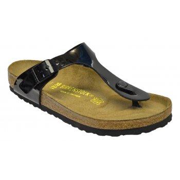 Birkenstock Gizeh (43661) Birko-Flor Patent Black (Z21) Womens Sandal