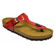 Birkenstock Gizeh (743191) Birko-Flor Patent Tango Red Lack (Z23) Womens Sandal