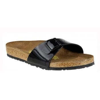 Birkenstock Madrid (040301) Birko-Flor Schwarz Lack/Black (B12) Womens Sandal