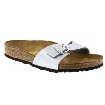 Birkenstock Madrid (040411) Birko-Flor Silber/Silver (N94) Womens Sandal
