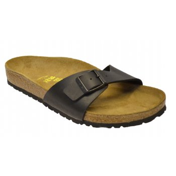 Birkenstock Madrid (040791) Birko-Flor Schwarz / Black (N104) Womens Sandal