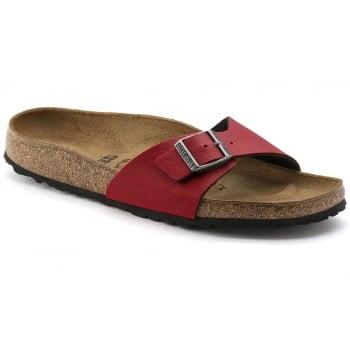 Birkenstock Madrid (1000307) Birko-Flor Pull Up Bordeaux (B19) Womens Sandal