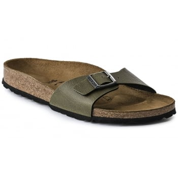 Birkenstock Madrid (1003172) Birko-Flor Pull Up Olive (G29) Womens Sandal