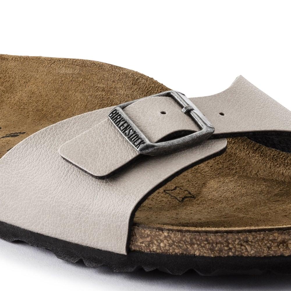 b01f27f249ab ... Birkenstock Madrid (1003176) Birko-Flor Pull Up Stone (A11) Womens  Sandal. ‹