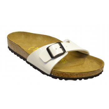 Birkenstock Madrid (240861) Birko-Flor White Lack (N80) Womens Sandal