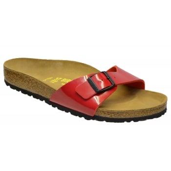 Birkenstock Birkenstock Madrid (340111) Birko-Flor Tango Red Lack (N67) Womens Sandal