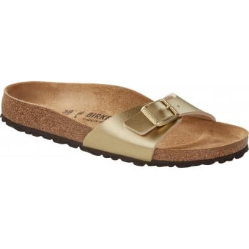 Birkenstock Madrid Birko-Flor Gold 1016106 (P1) Womens Sandal