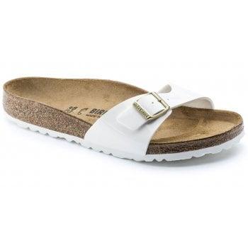 Birkenstock Madrid Patent (1005309) Birko-Flor White (N22) Womens Sandal