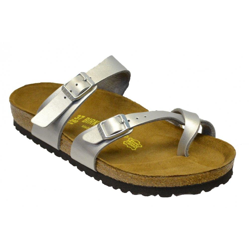 7c40c741218f Birkenstock Mayari (071081) Birko-Flor Silver (N34) Womens Sandal ...