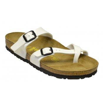 Birkenstock Birkenstock Mayari (071221) Birko-Flor White Patent (P1) Womens Sandal