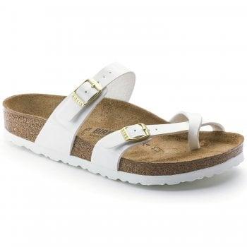 Birkenstock Mayari (1005280) Birko-Flor Patent White (Z18) Womens Sandal